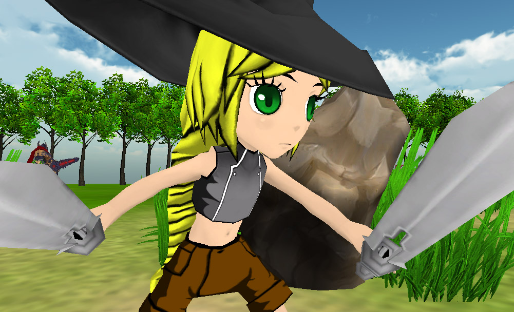 Soul Saga - Dual Wielding Girl With Witch Hat