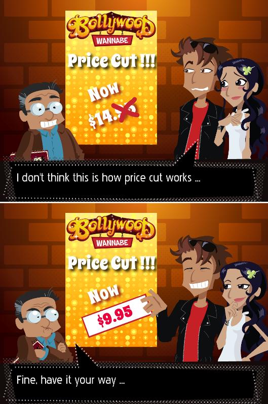 Bollywood Wannabe Price Cut