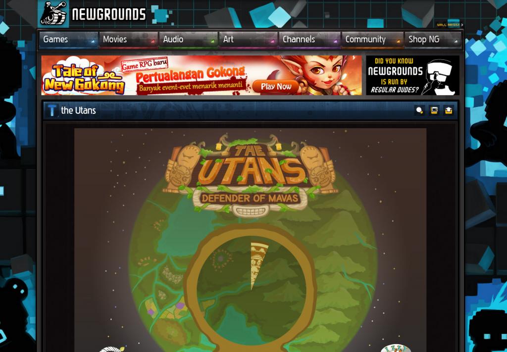 The Utans screenshot on newgrounds