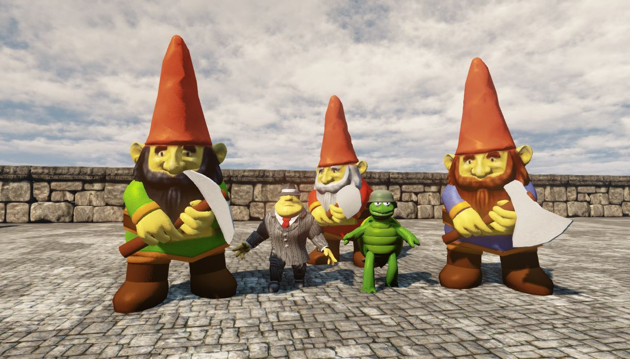 hatchet gnomes that makes 19 enemy bots news toy wars invasion