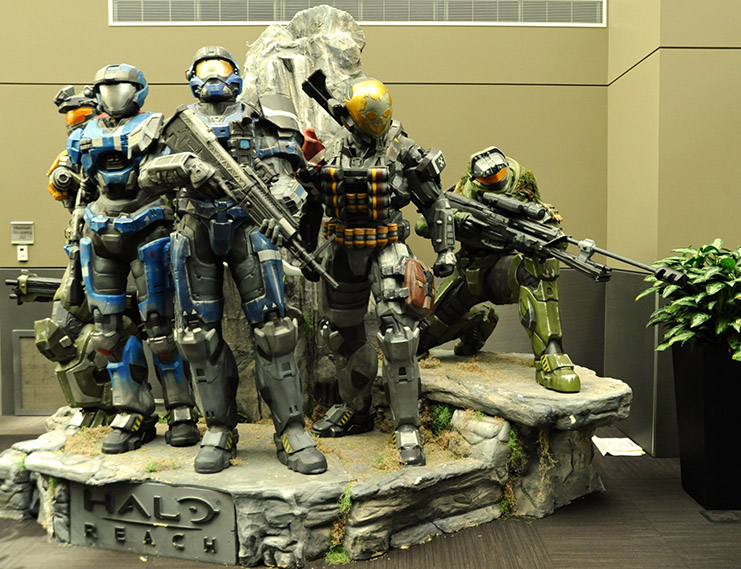 Halo Reach Statue At My Old Job.  Source: http://www.flickr.com/photos/wonderlane/5537136007/