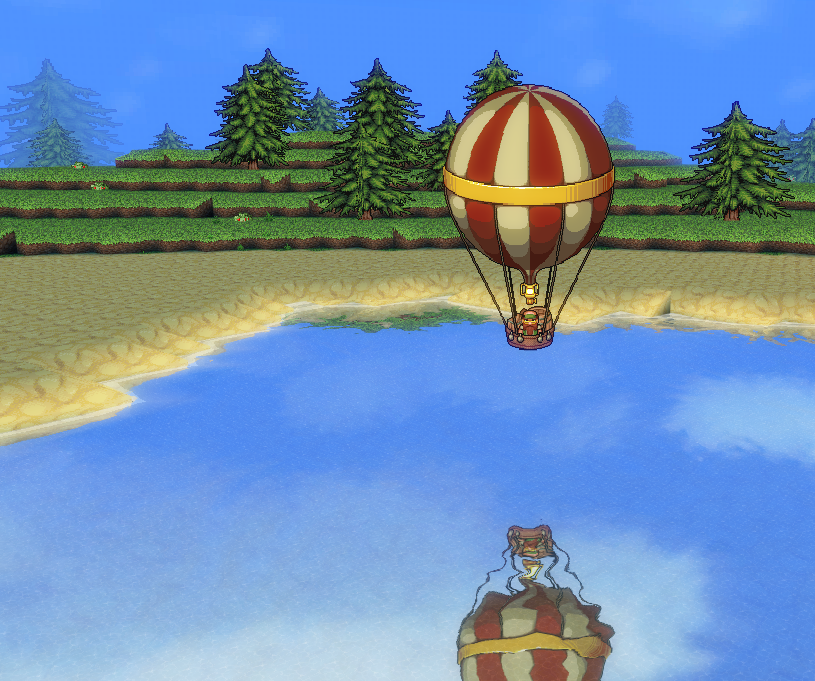 A Dwarven balloon travels accross the Great Sea