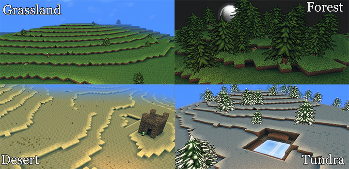 Different terrain types
