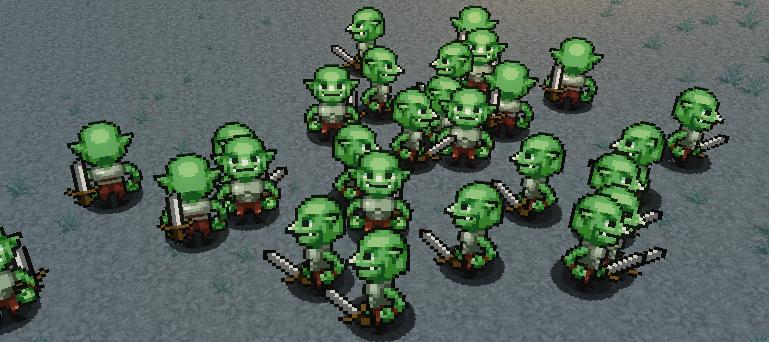 A horde of goblins