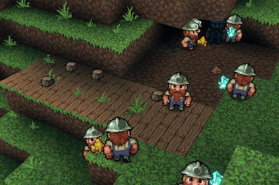 Dwarves gathering resourdces