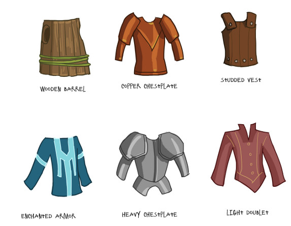 Quick concept art of early tiers of chest armor