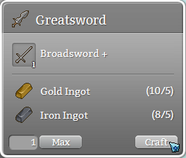 Upgrading Broadsword+ to a Greatsword