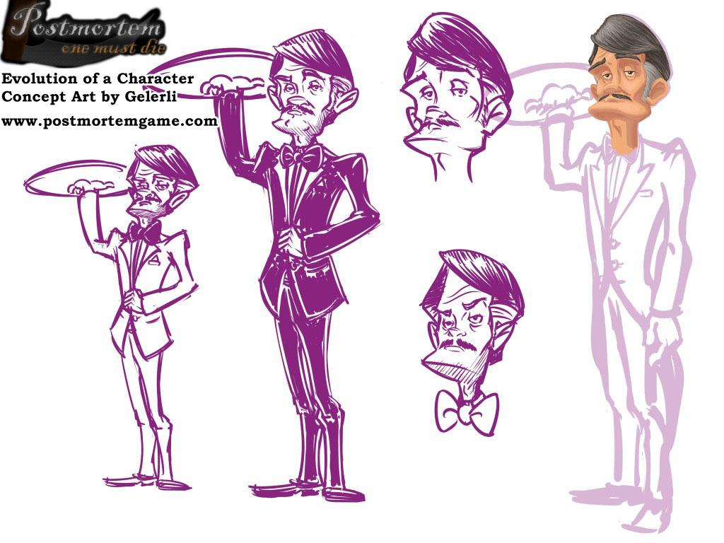 Postmortem Concept Art - Evolution of a Character