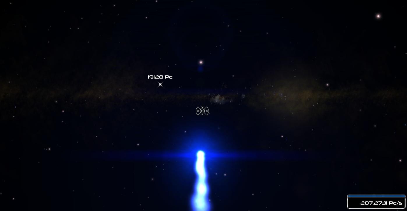 Interstellar dust and crosshair