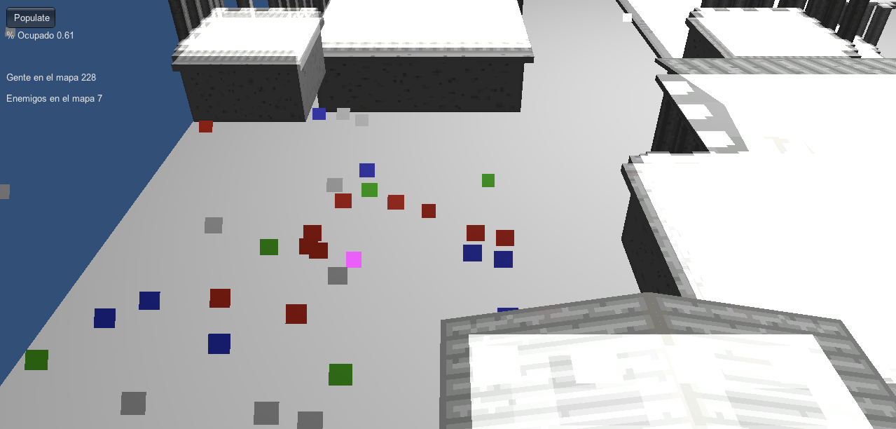 I wonder if those green squares are zombies.