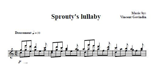 Sprout'ys lullaby score