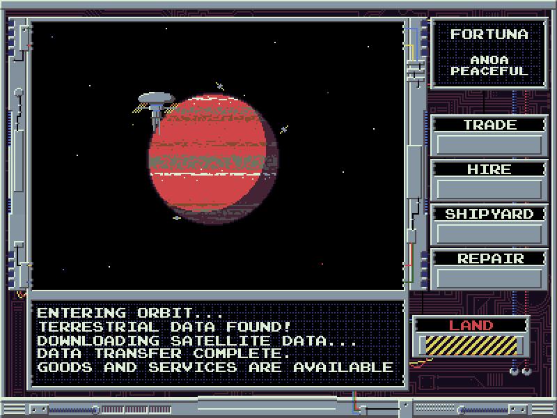 Interstellaria - Planetary interaction screen