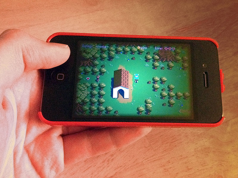 Game running on iPhone.