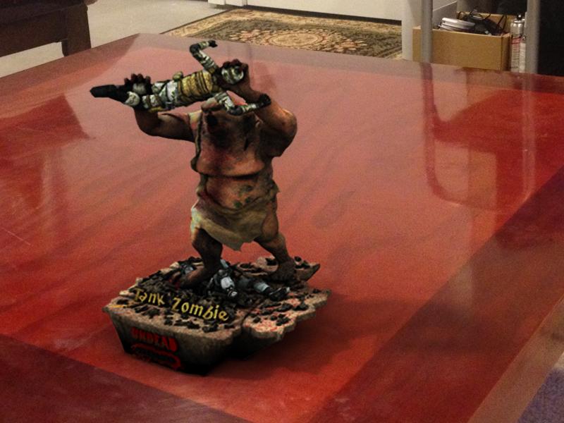 Tank Zombie 3D Print Visualization