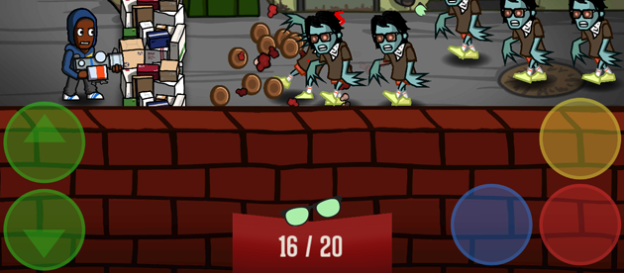 Hipster Zombies touchscreen buttons