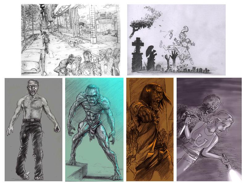 Grunt Zombie Concept Art