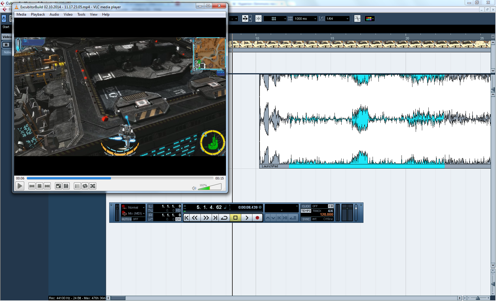 Cubase and the Excbutor clip