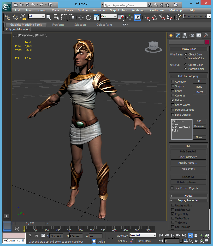 3D animated model in 3D Studio Max