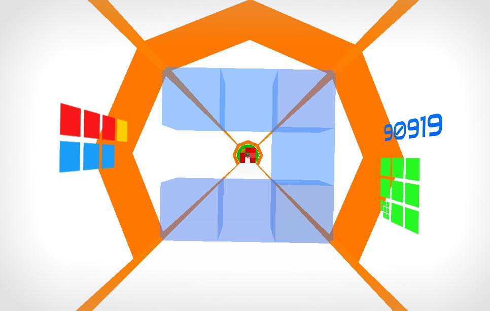 Hyper Gauntlet whizzing through clear blue blocks