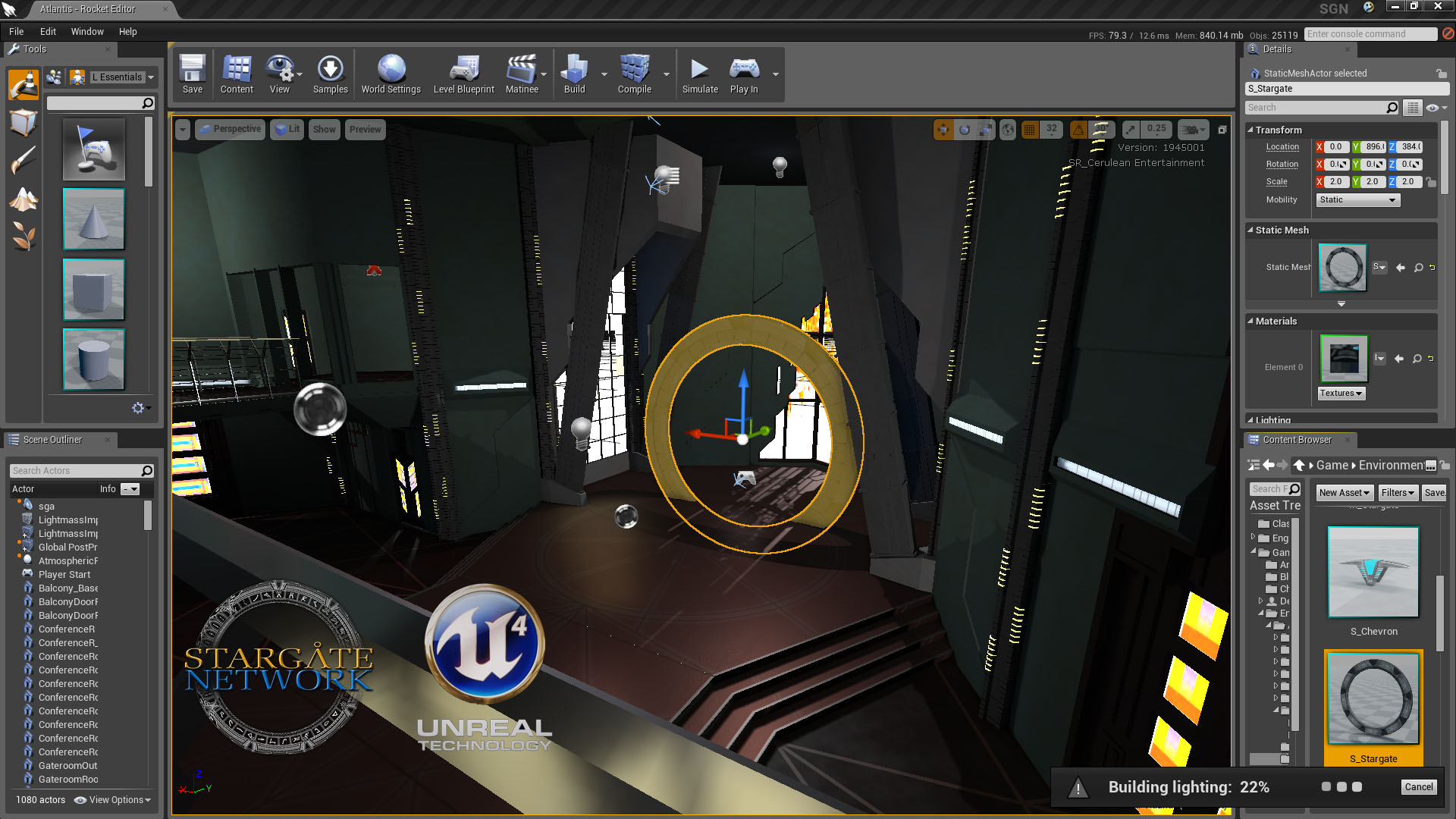 Stargate Network: Unreal Engine 4 Interface (Atlantis)