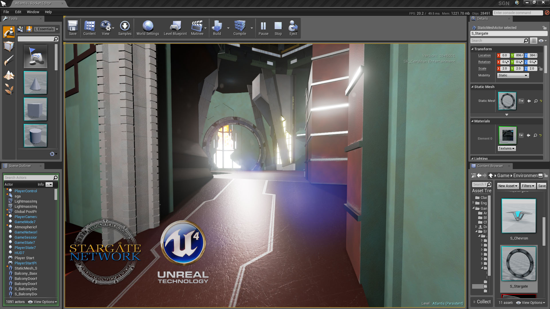 Stargate Network: Atlantis wip (Unreal Engine 4)
