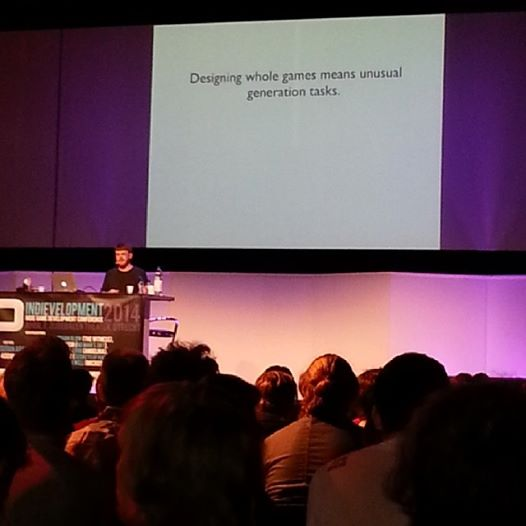 Photo: Michael Cook from Microsoft at Indievelopment in Utrecht, The Netherlands #gamedev