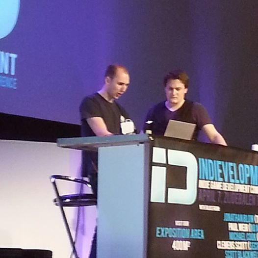 Photo: Now Jonathan Blow (maker of Braid) will talk at Indievelopment #gamedev #indedev