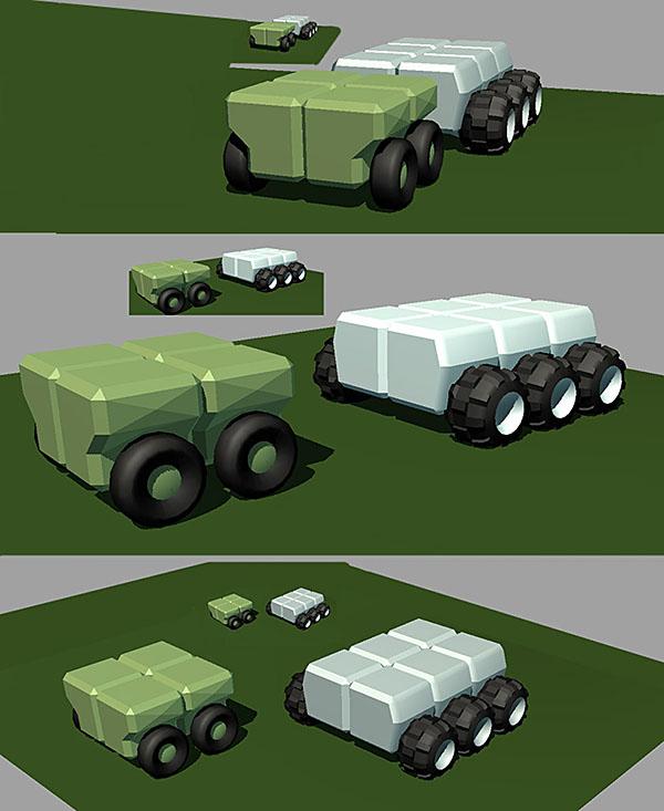 Very first 3D model test blocks