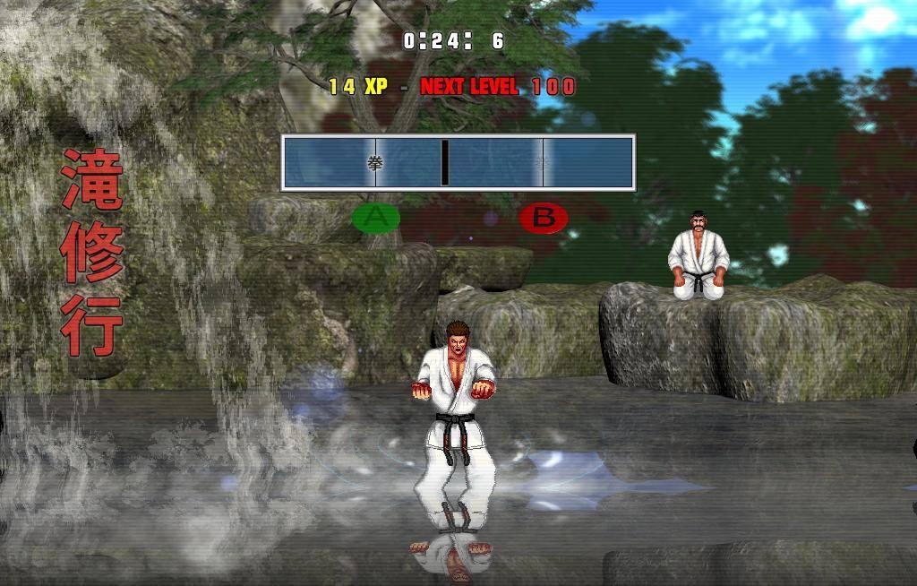 Karate Pool Training.