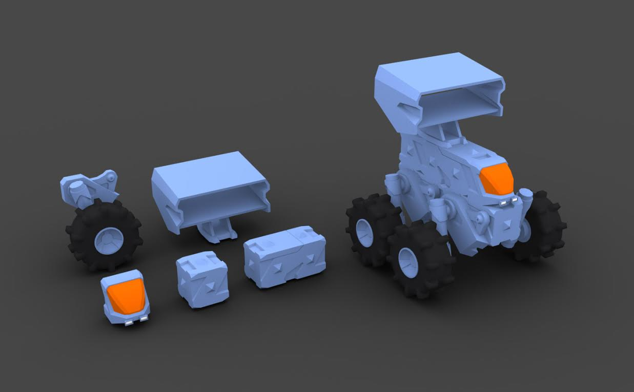 The first renders of Venture parts