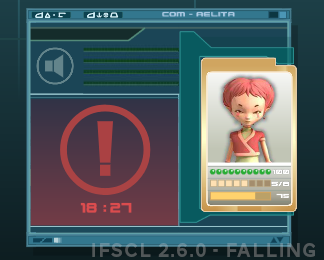 aelita falling screen