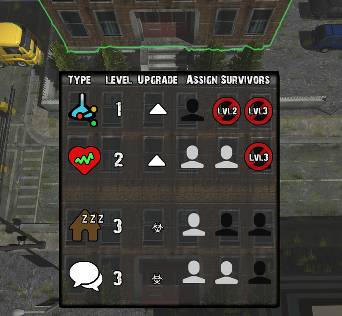 Mock Up of Modifiable Building UI