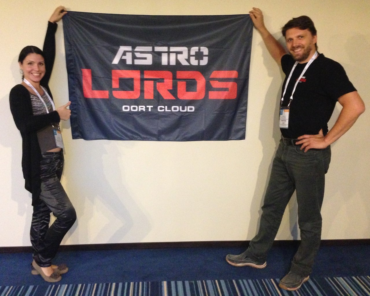 Astro Lords flag on wnconf conference