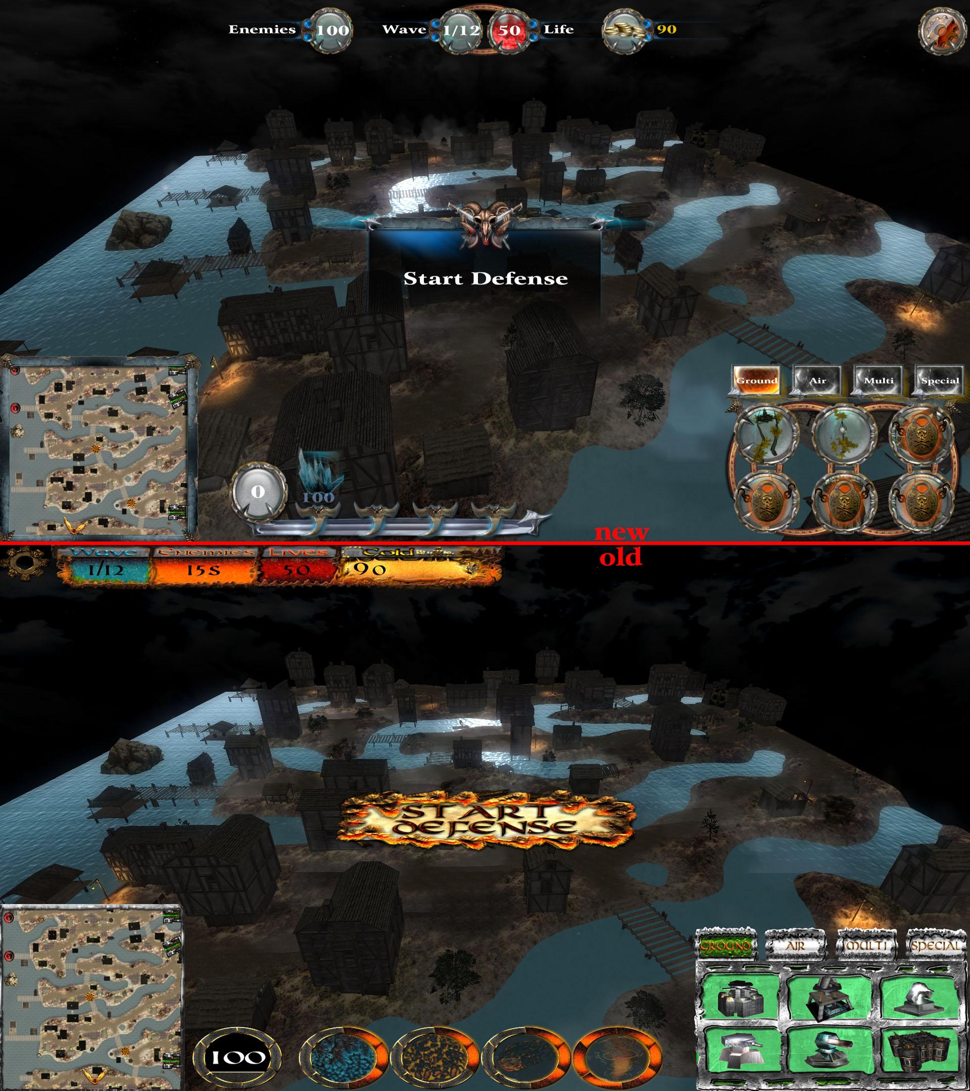 Interface comparison