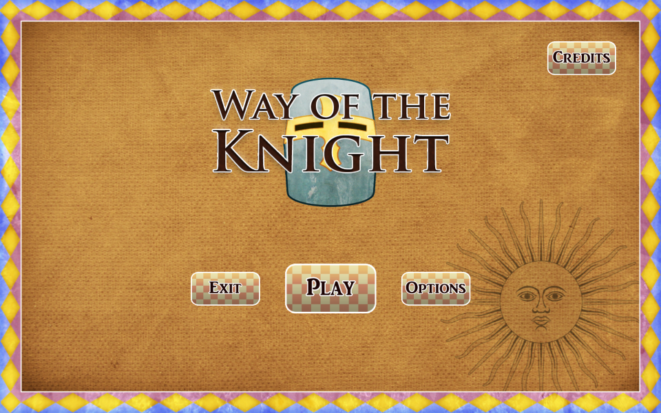 Way of the Knight - Menu