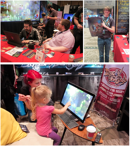 Highlights of PAX Prime Included: Hanging our with Angry Joe while he played as our Adventurous Sheep in Dragon Fin Soup -- Rewarding our High Score winner and Backer who helped out at the booth -- Watching our youngest player yet enjoy Dragon Fin Soup!