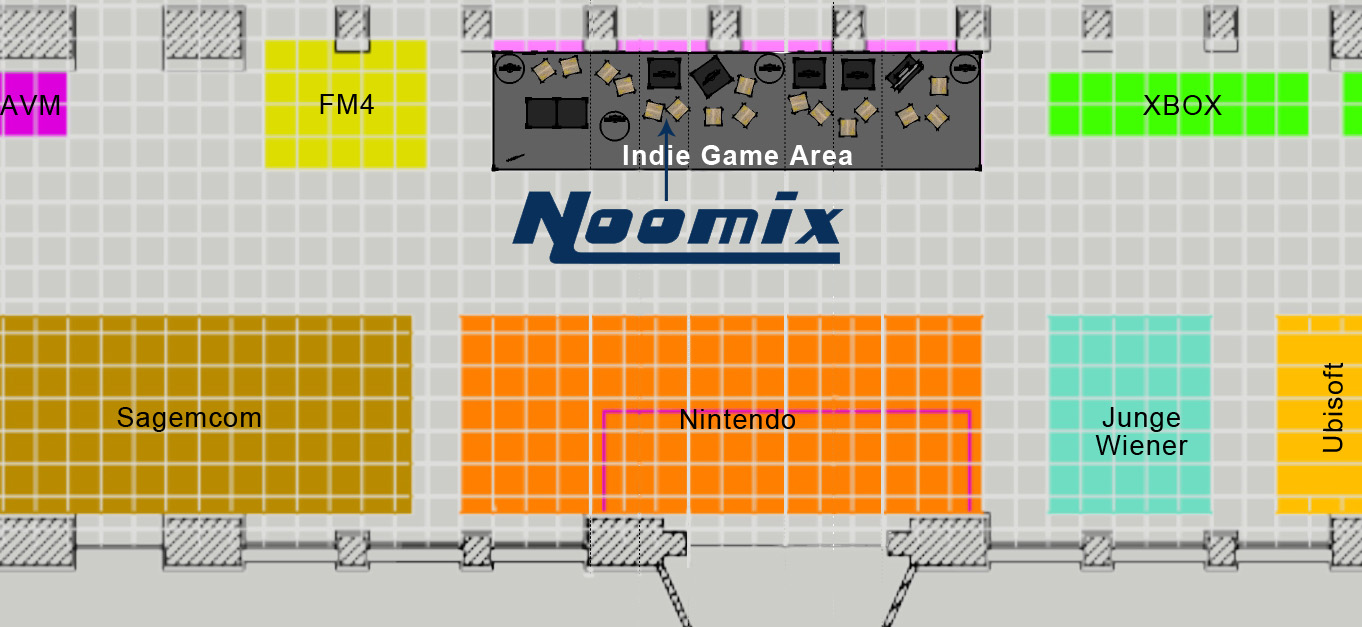 Noomix exhibition stand @ GameCity 2014