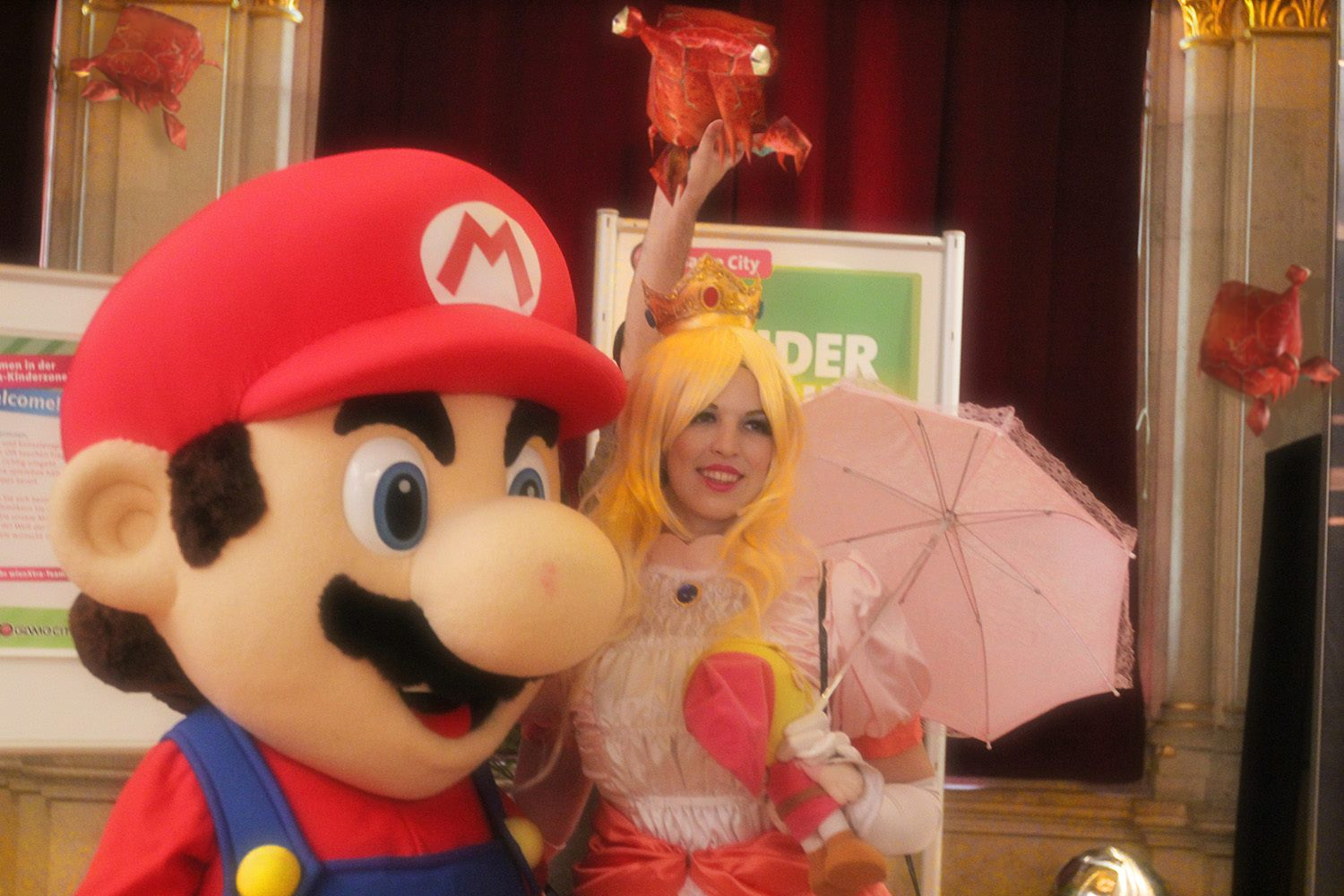 Princess Peach and Mario are about to get surprised!