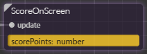 score on screen