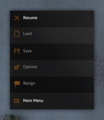 Ingame menu