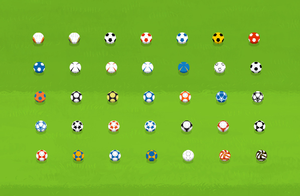 Different ball patterns