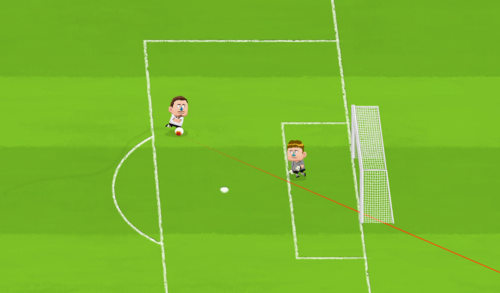 Using a sight when shooting at goal
