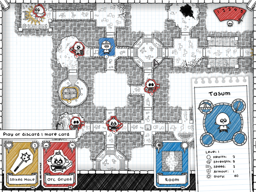 draw a dungeon on graph paper in guild of dungeoneering