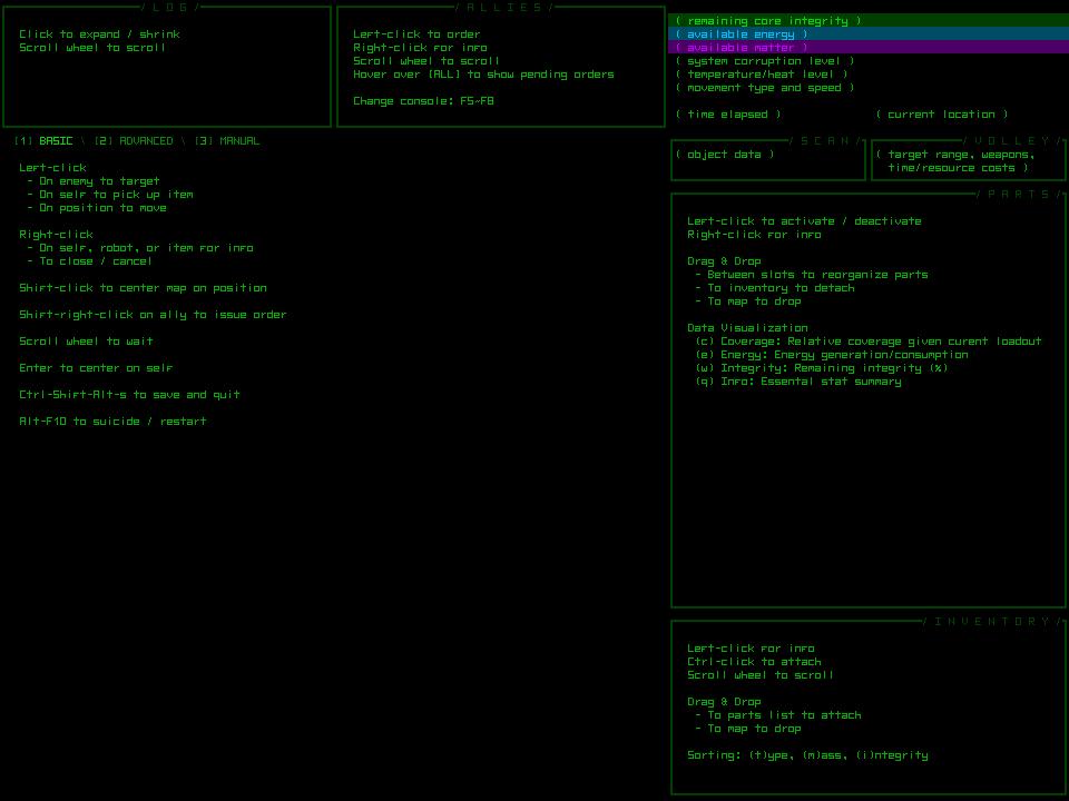cogmind_basic_commands