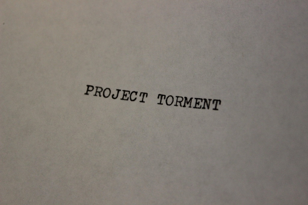 Project Torment Typewritten