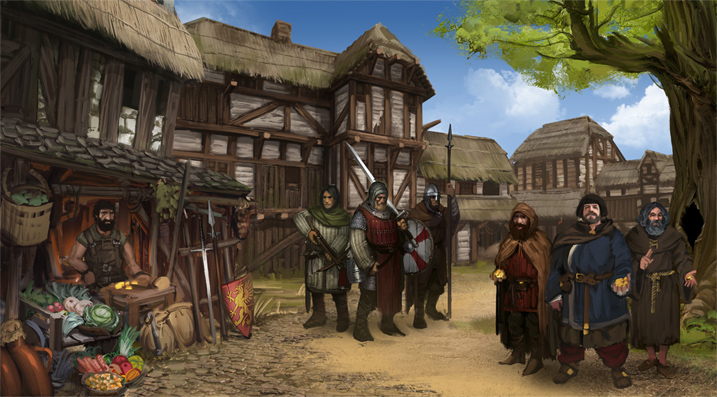 village screen battle brothers tactical RPG