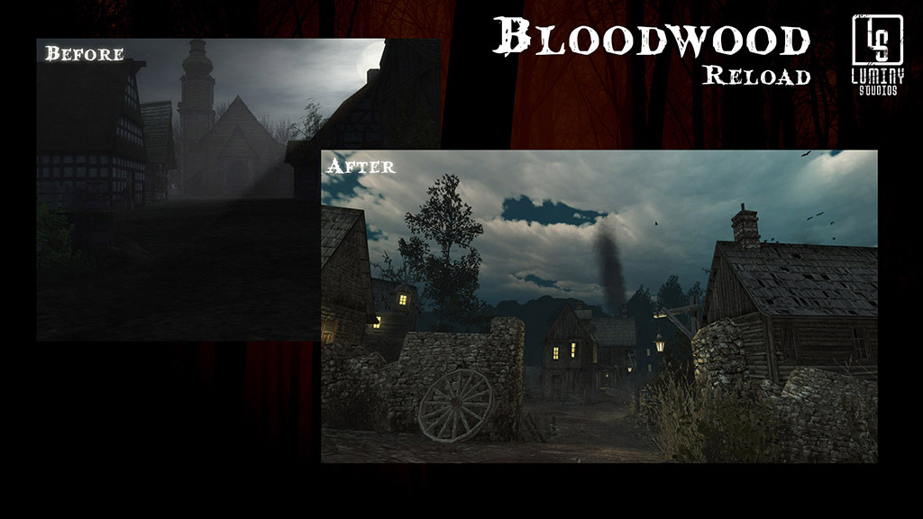 Before and after Bloodwood village