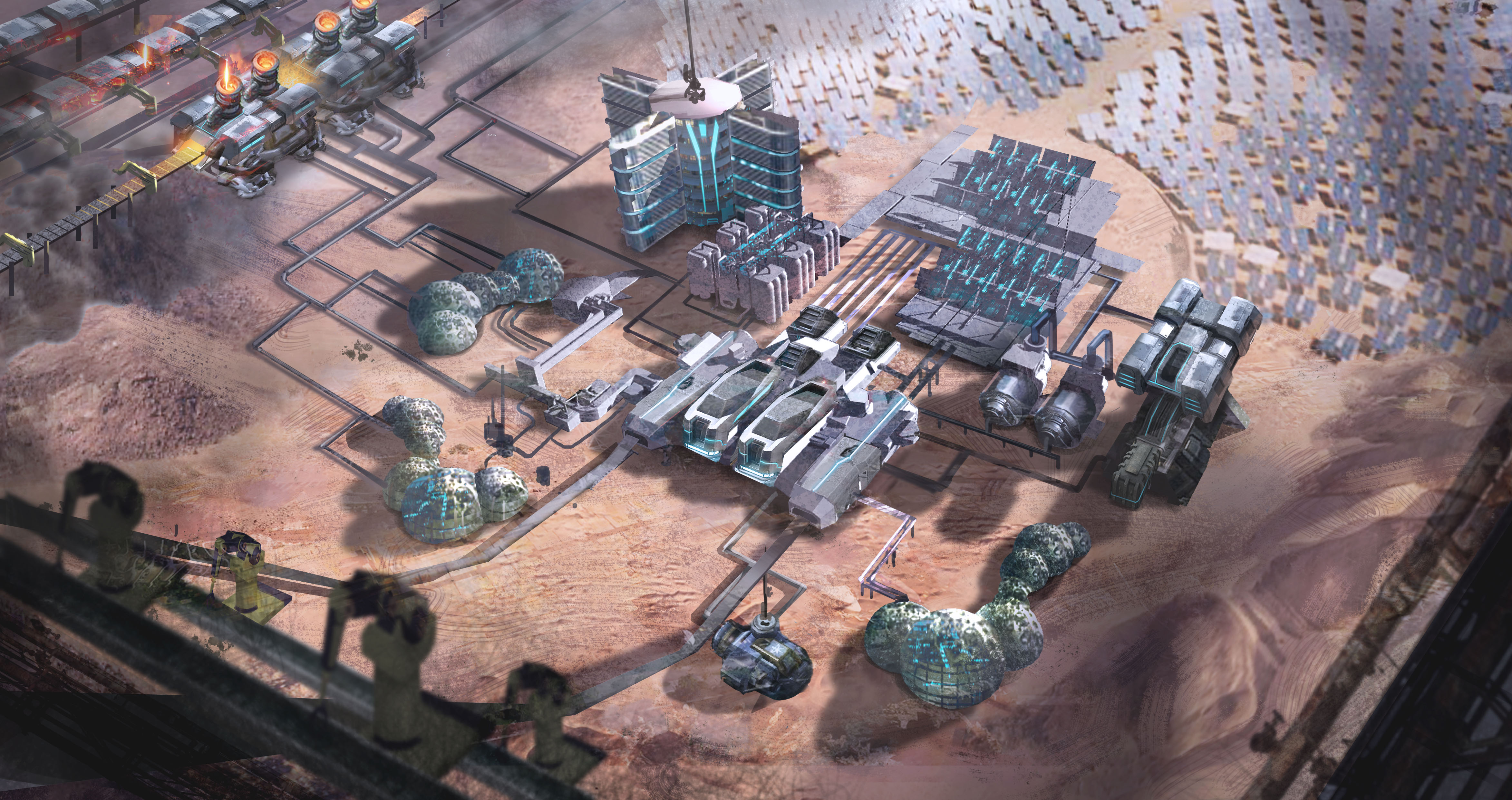 Sci Fi Colony Building Game