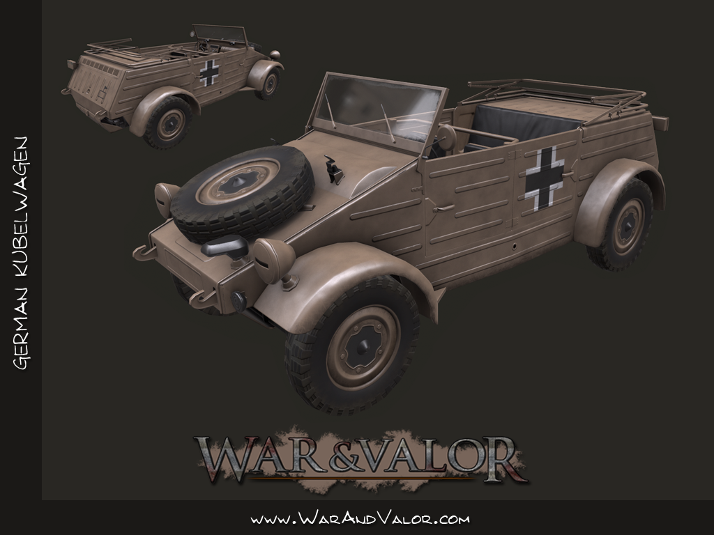 Recently completed Kubelwagen for War and Valor