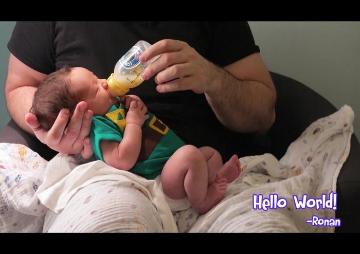 Ronan discovers Lon Lon Milk :)